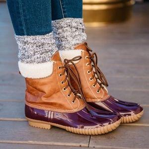EDDY Duck Boots - WINE